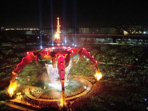 Palco do U2 360º, em Barcelona